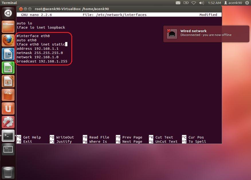 how to give ip address in ubuntu